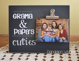gift for grandpas personalized gift custom picture frame grama and papa s cuties personalized photo clip frame present