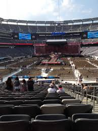 Metlife Stadium Football Seating Chart Metlife Stadium Section 124 Row 34 Seat 2 One Direction
