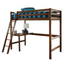 bunk beds kids desks. Caspian Walnut Twin Study Loft Bunk Beds Kids Desks