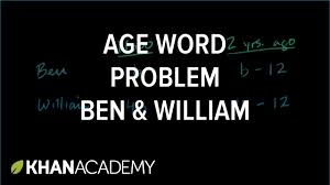 ex 3 age word problem linear equations algebra i khan academy you