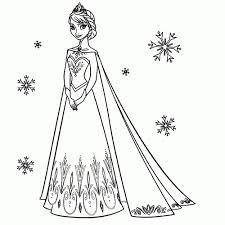 Niewu Kleurplaten Prinsessen Frozen Kleurplaat 2019