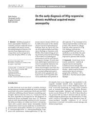 pdf on the early diagnosis of ivig responsive chronic multifocal acquired motor axonopathy