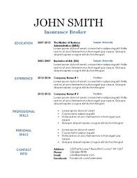 Resume Templates New Printable Resume Template As Basic Resume Template Resume Templates