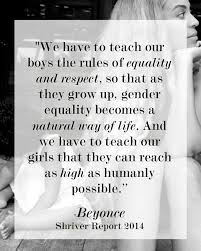 Sh Quote Let's make gender equality a natural way of life Beyonce quote 27