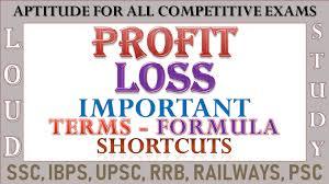 Profit Loss Formula Loud Study Profit And Loss Important Terms Formulas