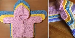 Free Crochet Baby Sweater Patterns Magnificent Three Way Crocheted Baby Sweater [FREE Pattern Video Tutorial]