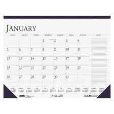 calendars with notes house of doolittle recycled two color monthly desk pad calendar