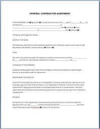 Loan Repayment Contract Free Template Impressive Free Printable General Contractor Contract Forms 44