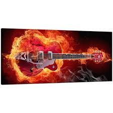 orange living room large canvas of guitar display gallery item 1  on guitar canvas wall art red with large orange canvas pictures of an electric guitar on fire