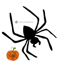 Spider Pattern Printable Spider Pumpkin Template Woo Jr Kids Activities