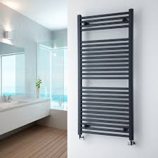 Milano Brook - Anthracite Flat Heated Towel Rail 1200mm x 600mm