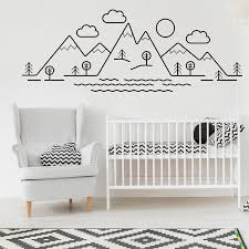mountains trees baby woodland nursery vinyl wall stickers for decals bedroom playroom home decor art murals es k603 wall stickers for bedrooms wall