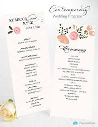 sample wedding ceremony program wedding program wording magnetstreet weddings