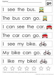 Kindergarten Worksheets Sight Word Sentences Download Them And Try ...