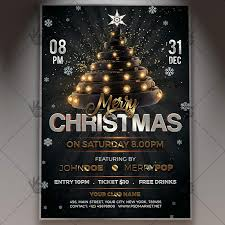 Free Christmas Flyer Templates Download Merry Christmas Flyer Psd Template