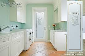 sans soucie laundry room door with etched glass wringer