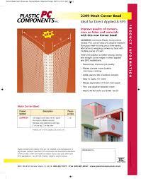 Mesh Corner Bead Plastic Components