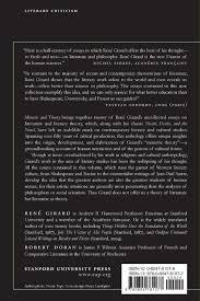 com mimesis and theory essays on literature and criticism  com mimesis and theory essays on literature and criticism 1953 2005 cultural memory in the present 9780804781077 rene girard robert doran