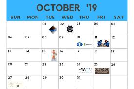 Chess Calendar October 2019 Chessbase