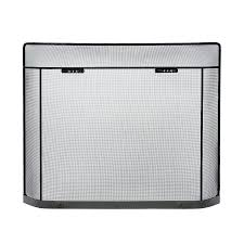 fireplace screens at for brushed nickel fireplace screen