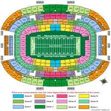 Dallas Cowboy Seating Chart New Stadium Dallas Cowboys Stadium Chart Images Online