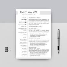 Listing References On Resume Professional Resume Template Modern Creative Resume Cover Etsy
