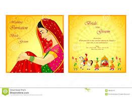 indian wedding invitation card ilration 48582415 megapixl