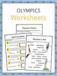 Olympics Facts, Worksheets & Modern Games History For Kids