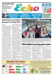 1800 Newspaper Template Byron Shire Echo Issue 31 23 16 11 2016 By Echo