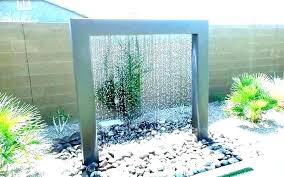 Outdoor Wall Waterfall Small Backyard Water Features Landscape Fountain Ideas Courtyard Feature Designs Fountains For Sale