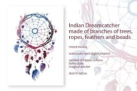 <b>Indian Dreamcatcher</b> ~ Illustrations ~ <b>Creative</b> Market
