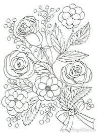 Цветок шиповника роза гипсофила Раскраска watercolor imagesflower colorsspring gardenprintable coloringcoloring booksmandalatemplatesvine