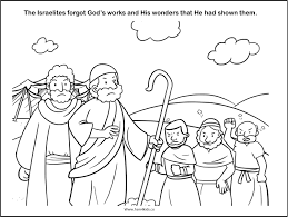 Free Bible Coloring Worksheet The Israelites