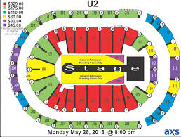 Seating Chart Official General U2eitour 2018 Zootopia