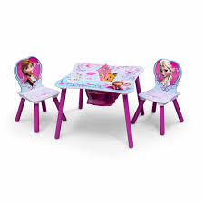 Table Set For Kids Disney Frozen Table And Chair Set With Storage Walmartcom