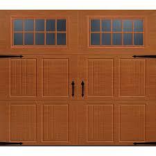 garage door insulation lowesShop Pella Carriage House 96in x 84in Insulated Golden Oak