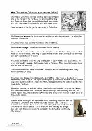 essay on christopher columbus grieg arietta analysis essay why  was christopher columbus a success or failure worksheet year 8 9 was christopher columbus a success