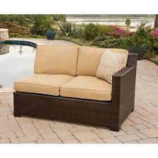 Metro 5 Piece Wicker Patio Sectional Seating Furniture Set Tar