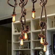 diy industrial lighting. Loft DIY Pendant Lamp 220v Handmade Hemp Rope Creative Lights Vintage Industrial Lighting For Diy .