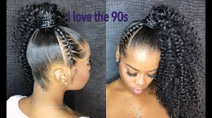 The beauty of curls is that even if your hairdo isn t perfectly neat it will still look fabulous. 10 Ways To Style Your Ponytail Natural Girl Wigs