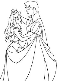 Small Picture Sleeping Beauty Dancing With Her Prince Coloring Page