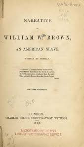 how to a slave narrative dom s story teacherserve  title page narrative of william w brown