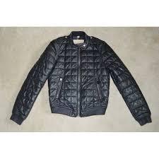 burberry boblington black quilted leather er zip biker jacket