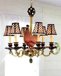 mackenzie childs lamp shades rooster 6 light chandelier mackenzie childs