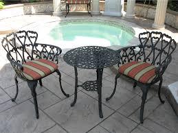 cast aluminum patio furniture bistro set