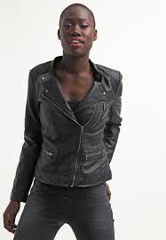 onlfreya faux leather jacket black