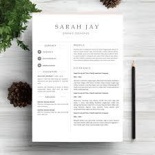 Modern Sleek Resume Templates Professional Resume Template Clean Sleek Minimal Resume