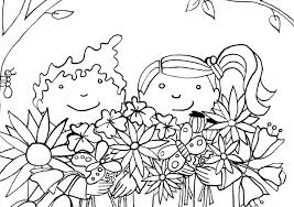 Kleurplaat Lente Hanneke Van Os Illustratie