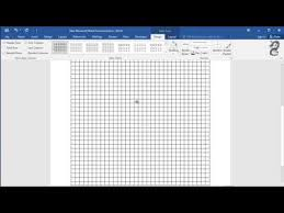 Graph Paper Word How To Get Graph Paper On Word Youtube
