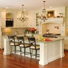 Rectangular Kitchen White Kitchen Cabinets Ideas Beige Stone Backspalsh Tile